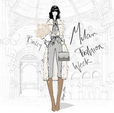 Fashion Sketchbook, Fashion Sketches, Fashion Illustrations, Art Illustrations, Megan Hess Illustration, Kerrie Hess, Fashion Art, Fashion Design, Fashion Decor