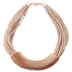 Perlenbezogene Kette mit Spirale ♥ ab 34,90€ ♥ Hier kaufen: http://stylefru.it/s170738