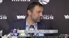 Sacramento Kings GM Vlade Divac made a blockbuster trade yesterday, shipping superstar center DeMarcus Cousins to the New Orleans Pelicans for a sack of oranges and a Fast & Furious DVD box set. He faced the music and held a press conference this afternoon, during which he revealed that he allowed himself to get owned, passing up a better offer last week before deciding to ship Cousins off. This uncomfortable silence makes me cringe, and it's a good reminder of how absurd this has all...