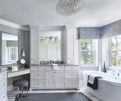 This bathroom is all about luxury and sophistication.