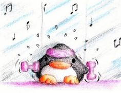 Aerobic Penguin by B-Keks on DeviantArt
