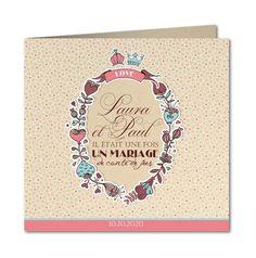 faire part mariage conte de fées enchanté Planet-cards #mariage #fairepart #conte #princesse