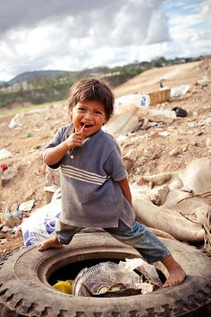 Slums of Guatemala City. I want to go on a mission trip to Guatemala Kids Around The World, We Are The World, People Around The World, Around The Worlds, Guatemala City, City People, Happy Boy, Happy Heart, Thinking Day