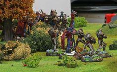 Las Fuerzas de la Hermandad salen de la cobertura de un bosque
