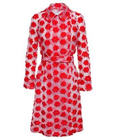 SIMONE ROCHA - Floral Embroidered Trench Coat