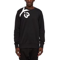 Logo sweater from the S/S2016 Y-3 by Yohji Yamamoto collection in black