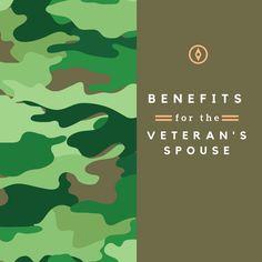 Benefits for the veteran's spouse Veteran Spouse Benefits, Veterans Benefits, Military Spouse, Military Veterans, Veterans Assistance, Va Benefits, Some Gave All, Military Benefits, Veterans Day Gifts