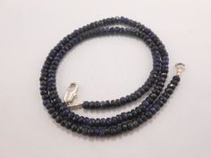 19-Corundum-Blue-Sapphire-Faceted-Rondelle-stone-Beads-Necklace-4-5MM-GT-2037