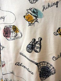 Disney XL Winnie Pooh Polo Shirt Tigger Hiking Fishing Symbols Bags Binoculars  #Disney #PoloRugby