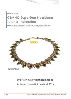 GRANO Pearl and SuperDuo Beadwork Necklace tutorial by bead4me, $11.00