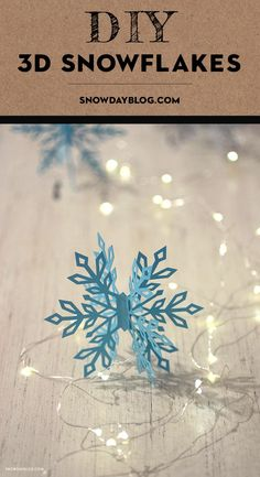 Snowflake SVG files let you create ornaments, table decorations and garlands to get your home ready for Christmas Diy Snowflake Decorations, Diy Christmas Snowflakes, Snowflake Craft, 3d Christmas, Christmas Paper Crafts, Paper Snowflakes, Snowflake Designs, Holiday Crafts, White Christmas