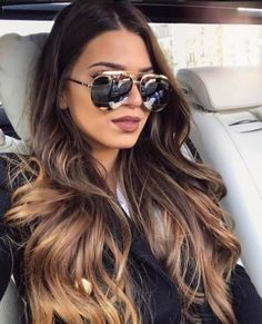 Soo excited to go to Munich tomorrow with bae 💗 Phklmf - Haar und beauty - Brown Hair Balayage, Brown Blonde Hair, Brunette Hair, Hair Highlights, Dark Hair, Cabelo Ombre Hair, Mi Long, Gorgeous Hair, Hair Looks