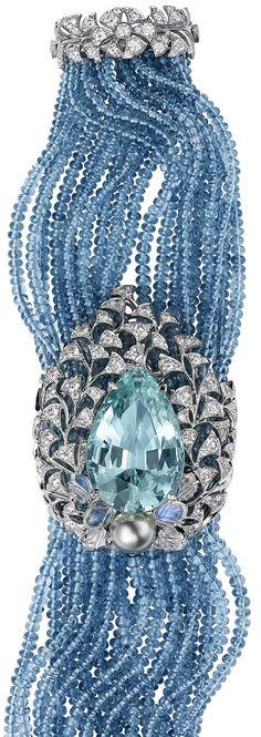 Moonstone, Pearl, Aquamarine and Diamond bracelet by Cartier.