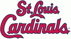 St. Louis Cardinals Wordmark Logo (1998) - St. Louis Cardinals scripted in red with a navy outline