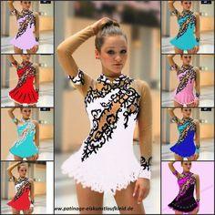 Figure ice skating dress  roller skater dance show costume #LisaMint