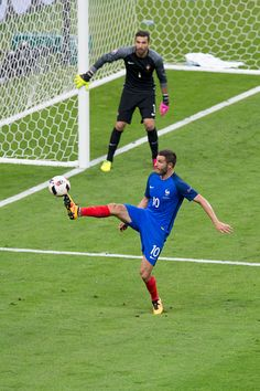 France's Andre Pierre Gignac in action during the UEFA Euro 2016 Final match between Portugal and France at Stade de Lyon on July 10 in Paris France Uefa European Championship, European Championships, Andre Pierre, Nations Cup, Uefa Euro 2016, European Soccer, 2016 Pictures, World Football, July 10