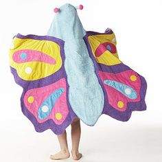 Butterfly hooded bath towel from companykids.com
