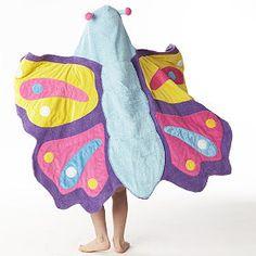 Butterfly hooded bath towel from companykids.com