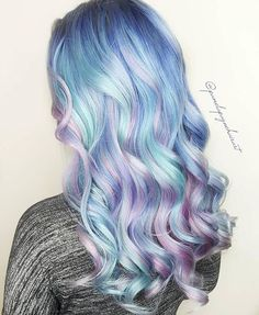 Pastel blue and purple hair, , Hair Beauty, Cute Hair Colors, Pretty Hair Color, Beautiful Hair Color, Hair Dye Colors, Beautiful Figure, Unicorn Hair Color, Mermaid Hair Colors, Bright Hair, Dream Hair