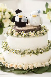 Crochet Lovebirds Cake Topper