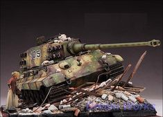 Award winner built diorama with paint and real life heavy weathering. Top building quality with outstanding details throughout whole model and very high standard accuracy on every individual part. Add brass photo-etched parts and clear parts.