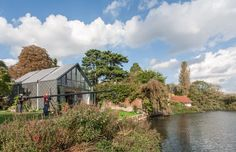 Amphibious house on the Thames