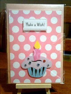 Cup cake card.