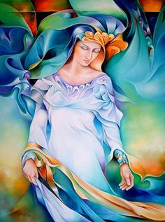 """""""You are not only my children, but the ribbons and bundlings of light stream that fuel new awakening.""""  The Great Mother through Nalini ~ Artist, Orestes Bouzon"""