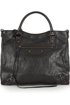 Balenciaga  Velo textured-leather tote | NET-A-PORTER