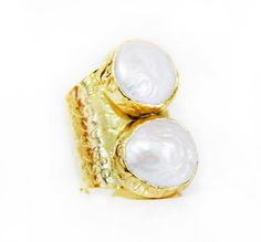 Duo Pearl Ring