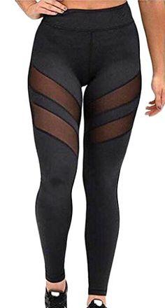 Generic Women's Mesh Stretchy Workout Sportys Yoga Leggings Pants