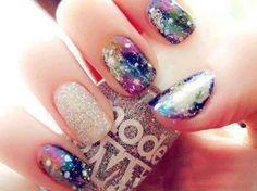Models Own galaxy nail art
