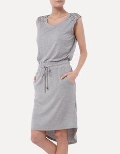 Kleid in Melangeoptik