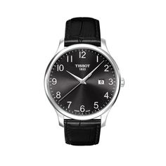 Tissot Men's T Classic Analog Display Swiss Quartz Black Watch Stainless steel case with a black leather strapFixed stainless steel bezel Cool Watches, Watches For Men, Men's Watches, Cheap Watches, Dress Watches, Fashion Watches, Men's Fashion, Black Quartz, Mens Watches Leather