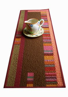 Mid-Century Inspired Wall Hanging/Table Runner Art Quilt by BooDilly's, via Flickr