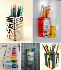 lapiceros hechos con cosas q pueden terminar en la basura. En vez de comprar reutiliza. Muy cool!