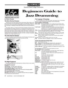 Beginners Guide to Jazz Drumming by Steven Burpee (PDF)