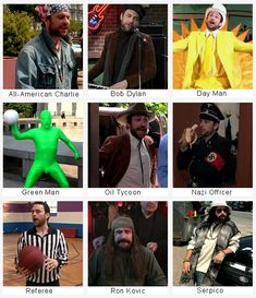 Charlie Kelly, a man with many different faces