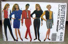 1992 Uncut Butterick Pattern 6348 Misses' by lovelylovepatterns, $4.50
