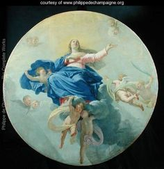 Learn more about The Assumption of the Virgin, Philippe de Champaigne - oil artwork, painted by one of the most celebrated masters in the history of art. Philippe De Champaigne, European Paintings, Blessed Virgin Mary, Sacred Art, Renaissance Art, Christian Art, Gradient Color, Find Art, Framed Artwork