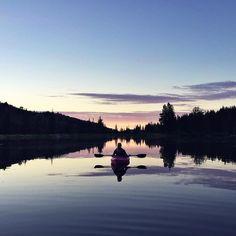 Kayaking at sunrise.