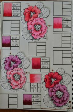 Alshandra's Corner: Copic Journal - more colour combinations