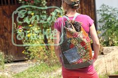 Rucksack mit Stickereibild, Rosenrucksack Drawstring Backpack, Backpacks, Sports, Bags, Fashion, Embroidery, Pictures, Hs Sports, Handbags