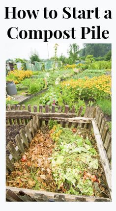 A compost pile is a great way to create your own fertilizer for free. It's also another way to recycle resources from your home instead of throwing them away. Watch this video and you'll learn how to build and begin your compost pile.