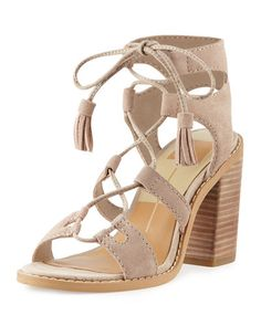 Lynlee Tassel Lace-Up Sandal