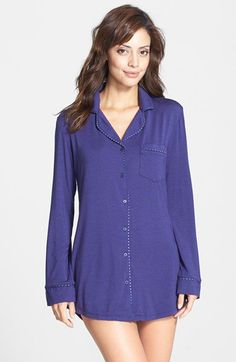 Splendid Piped Sleep Shirt | Nordstrom