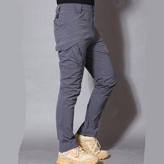 Army Military Pants Cotton Many Pockets Stretch Flexible Man Casual Trousers XXXL Mens Trousers Casual, Trouser Pants, Linen Pants, Men Casual, Military Pants, Camouflage Pants, Straight Trousers, Loose Pants, Drop Crotch