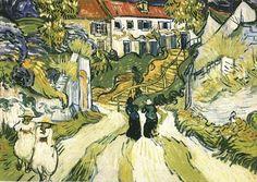 Village street and steps, by Vincent van Gogh