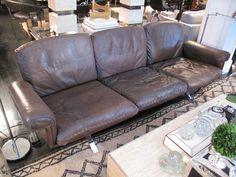 1970's De Sede Tobacco Leather Sofa on Chrome Legs image 2