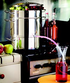 With a fruit steamer and activated carbon (from an aquarium store) you can… Aquarium Store, Best Juicer, Steamer, Filter, Survival, Layers, Canning, Fruit, Create